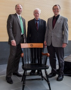 Schleyer McDonald Tierney at presentation of McDonald chair to it's first occupant Schleyer